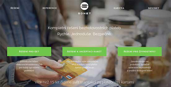 Nové webové stránky sonet.cz