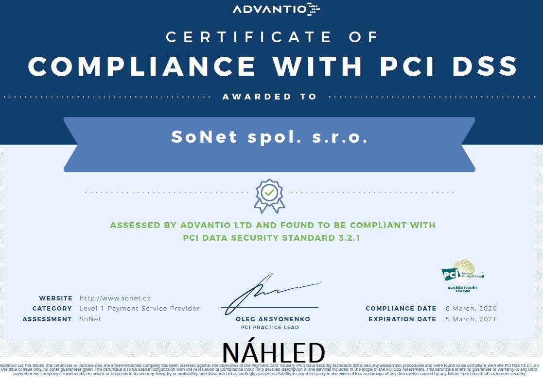 Certifikace PCI DSS